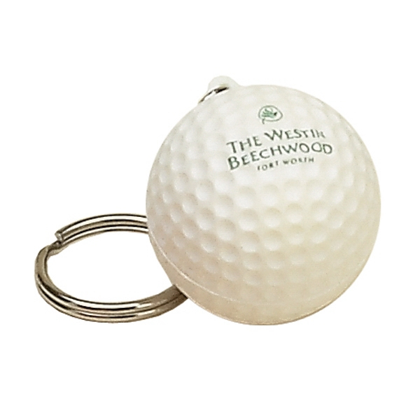 Item #KG-16 Golf Ball Shaped Stress Reliever Key Tag