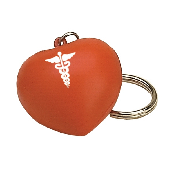 Item #KVH-10 Heart Shaped Stress Reliever Key Tag