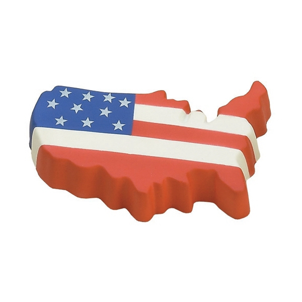 Item #MUF-24 United States Map Flag Colored Stress Reliever