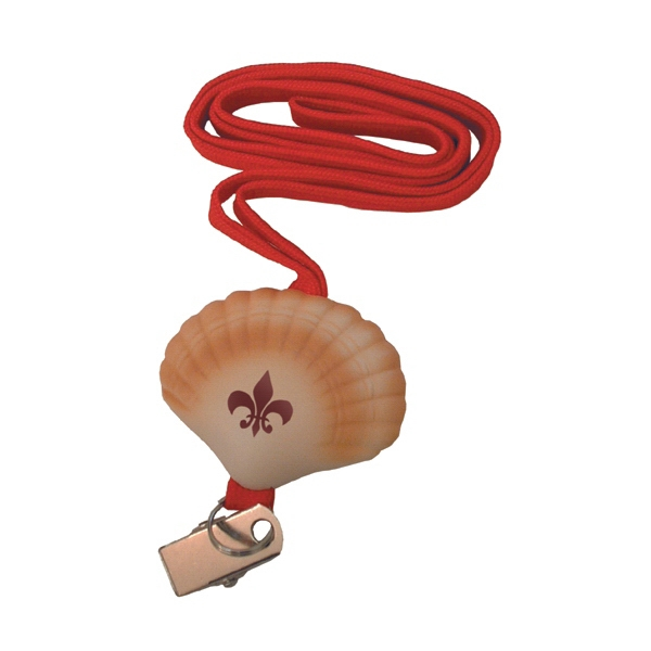 Item #NHSL-02 Lanyard with an Attached Seashell Shape and Clip