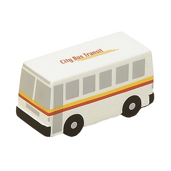 Item #TCB-17 City Bus Shaped Stress Reliever