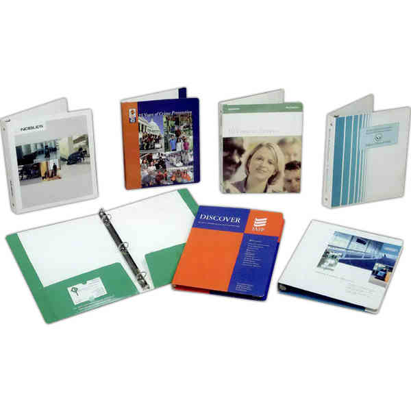 3-Color - Bristol board 3 ring binder with easy open metal