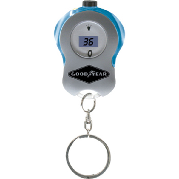 Item #TL181 Tire gauge keytag