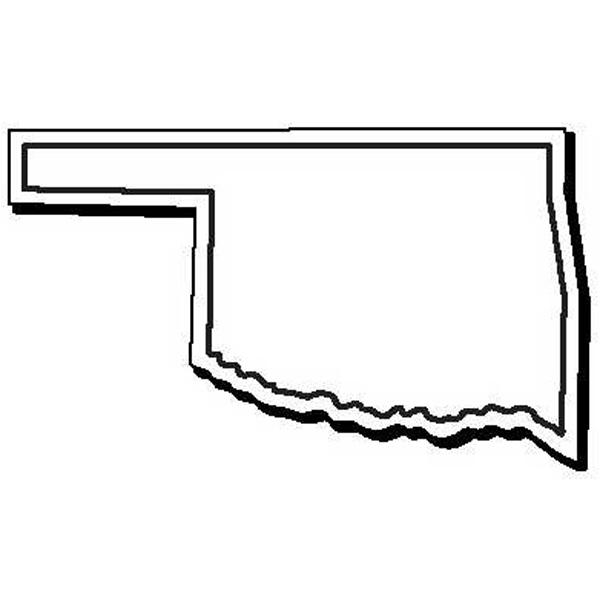 NoteKeeper (TM) - Flexible Oklahoma state shape magnet