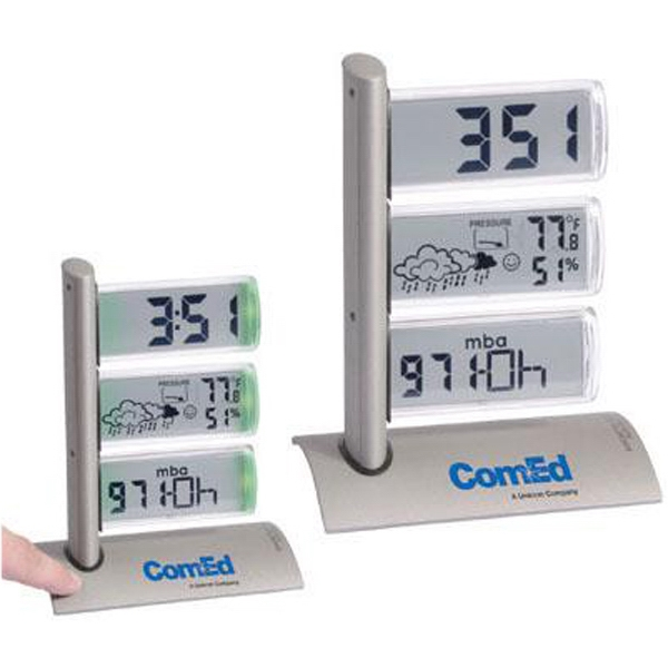 Item #AD-1018 Triple display weather station alarm clock