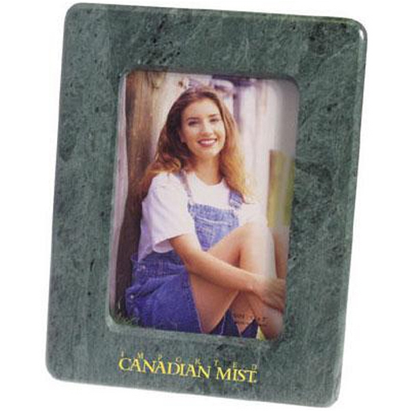 "Item #AD-1416 Marble 5"" x 7"" photo frame with easel back"