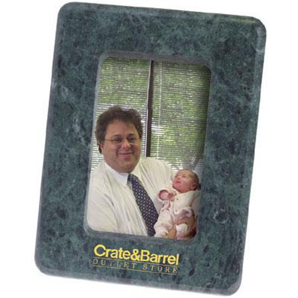 "Item #AD-1417 Marble 3 1/2"" x 5"" photo frame with easel back"