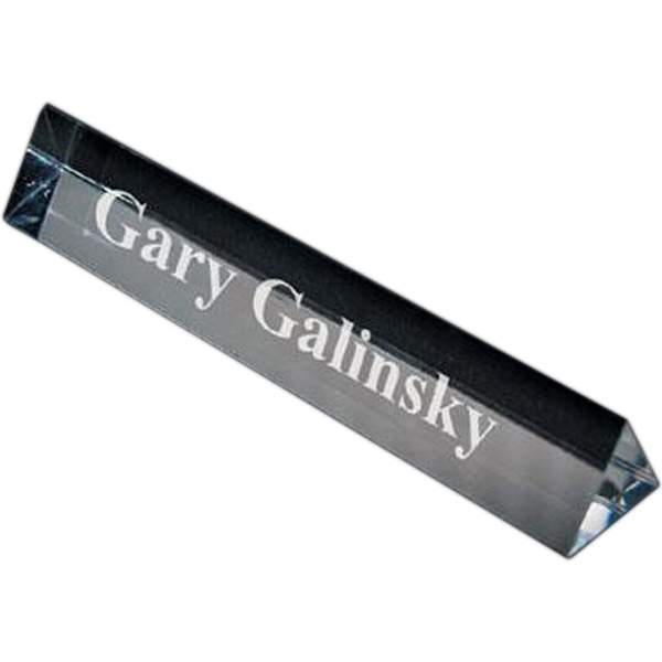 Item #AD-1717 Crystal prism name plate