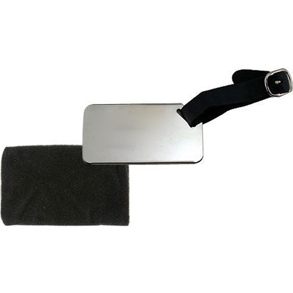 Item #AD-239 Stainless steel luggage tag