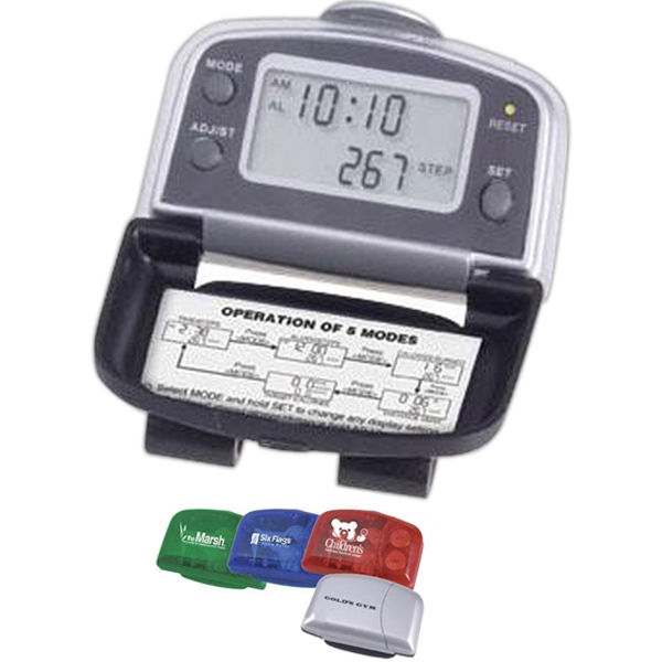 Item #AD-288 5-function executive pedometer