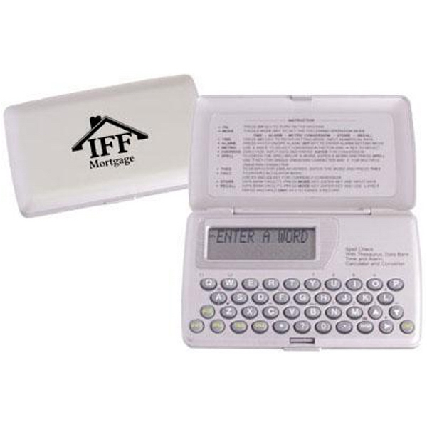 Item #AD-344 Spell checker with thesaurus and alarm clock