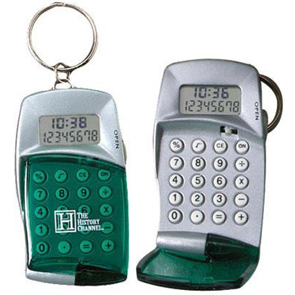 Item #AD-350 HIgh-tech calculator with clock keyring