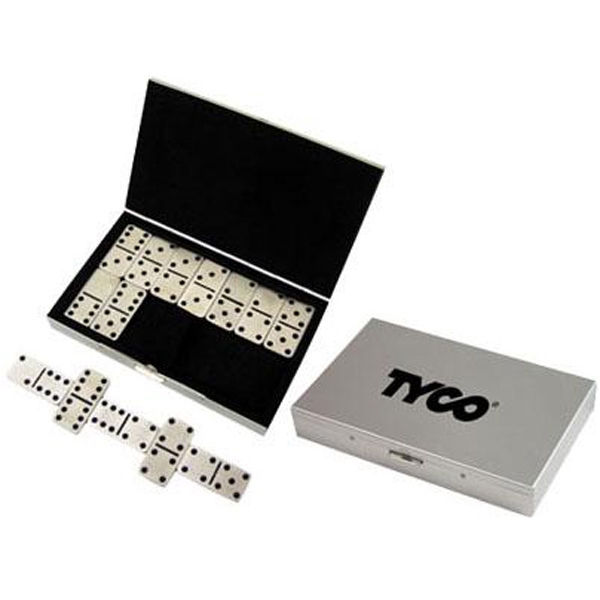 Item #AD-421 Stainless steel travel domino set