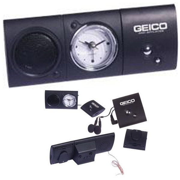 digital fm scan radio with analog alarm clock item ad 444 custom printed. Black Bedroom Furniture Sets. Home Design Ideas