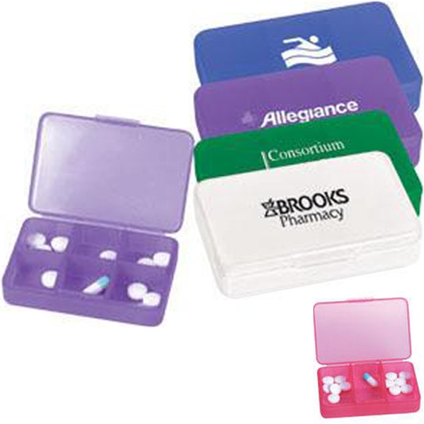 Item #AD-568 Plastic pill case with six compartments