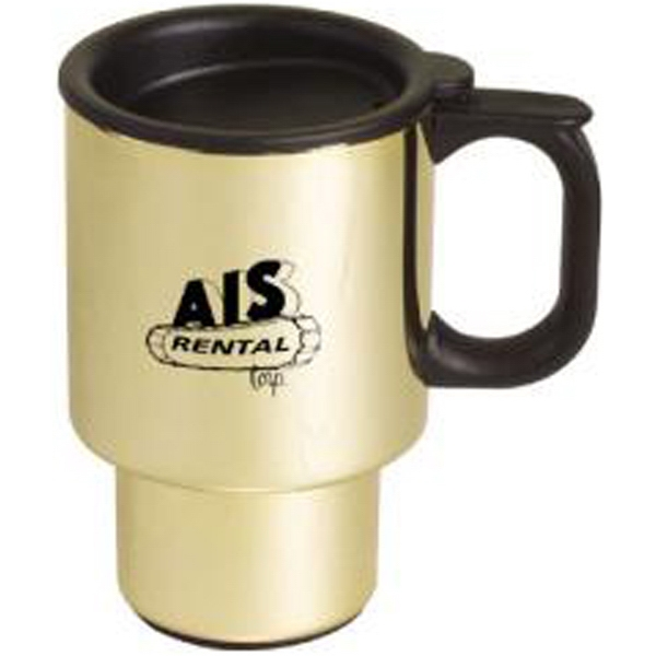 Item #AD-604 Gold-plated stainless steel commuter mug