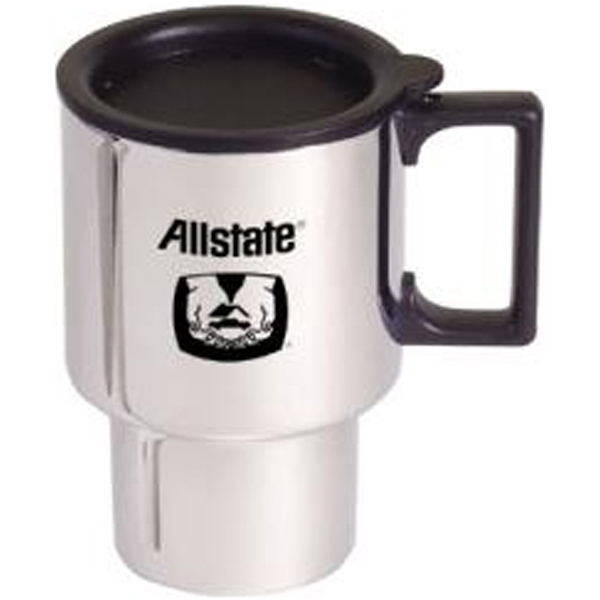 Item #AD-605 Chrome finish stainless steel commuter mug