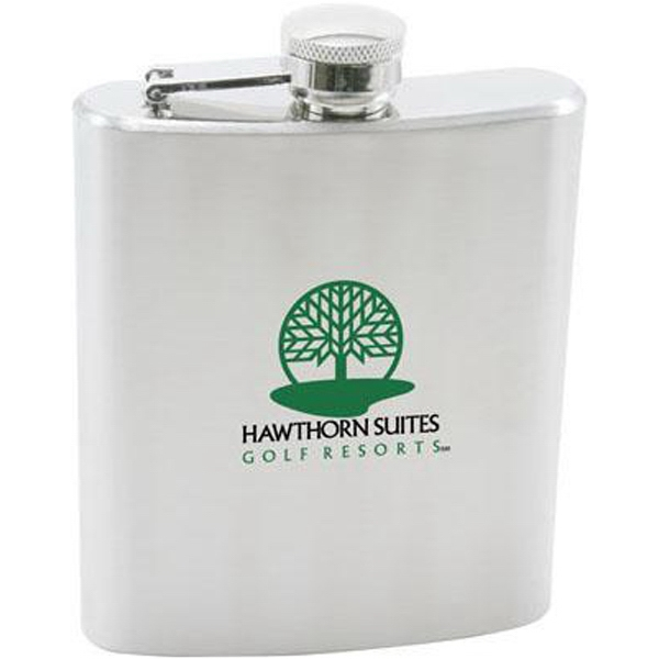 Item #AD-626 7 oz stainless steel hip flask