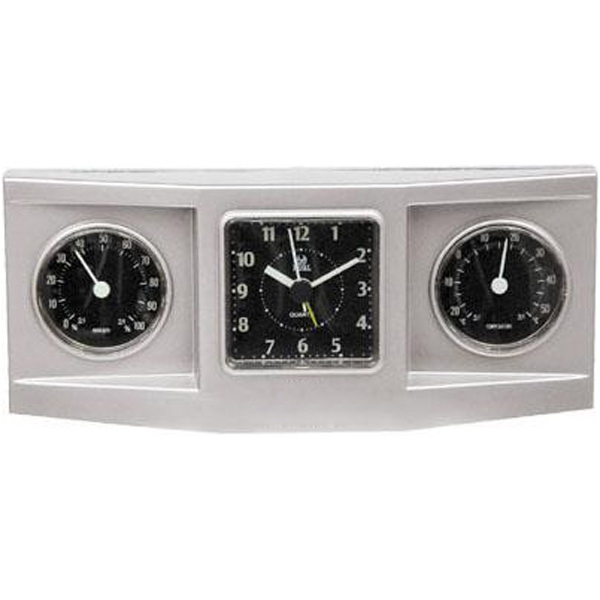 Item #AD-828 3-dial weather station alarm clock