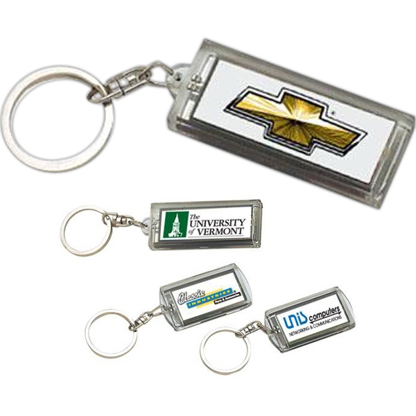 Item #AD-933 Solar flashing keychain