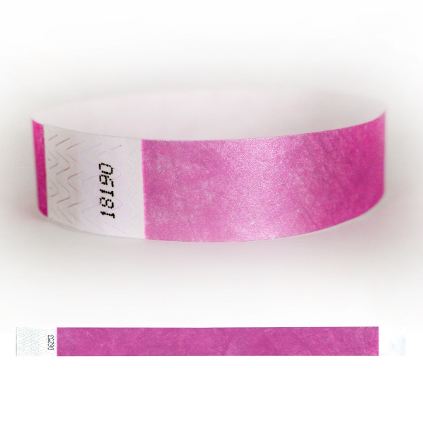 "Tyvek® 3/4"" Solid Stock Metallic Color Wristband"