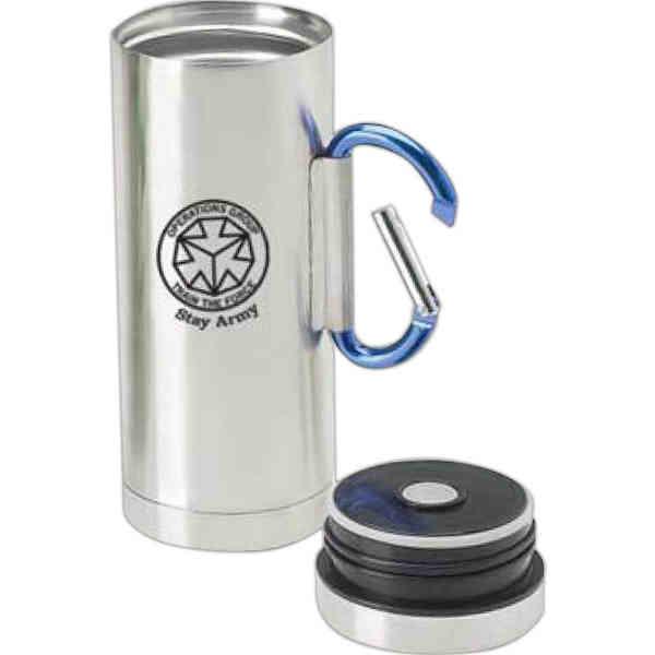 Travel Coffee Mug With Carabiner Handle Lifehacked1st Com