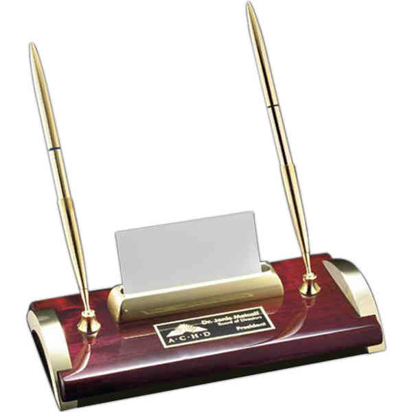 Bentley desk pen stand with a business card holder and a nameplate item dsr711 bentley desk pen stand with a business card holder and a nameplate colourmoves