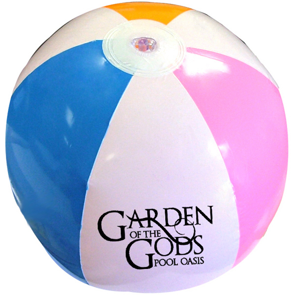 "Item #614-4C BEACH Beach Ball 12"", With Large 3"" Imprint -E614-4C"
