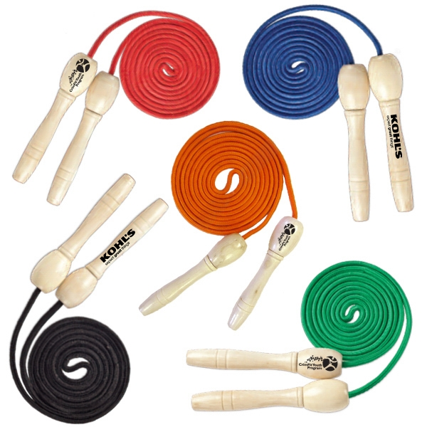 Item #HEART GYM E979 Natural Wood Handle Jump Rope - E979