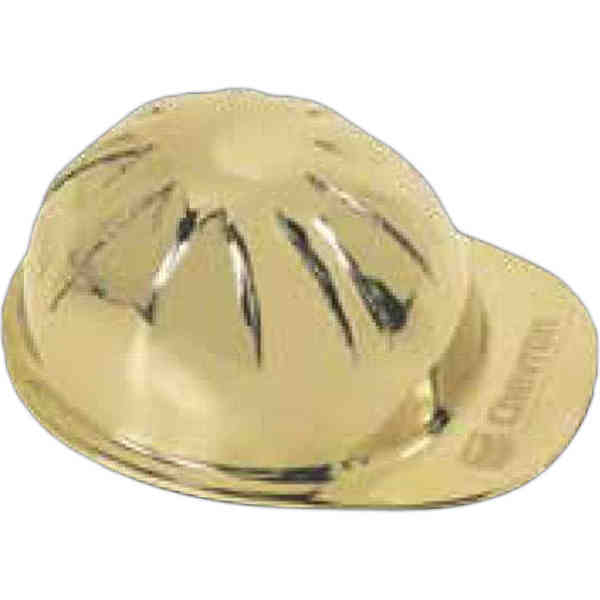 Item #TP-5730 Hard hat shaped brass paperweight.