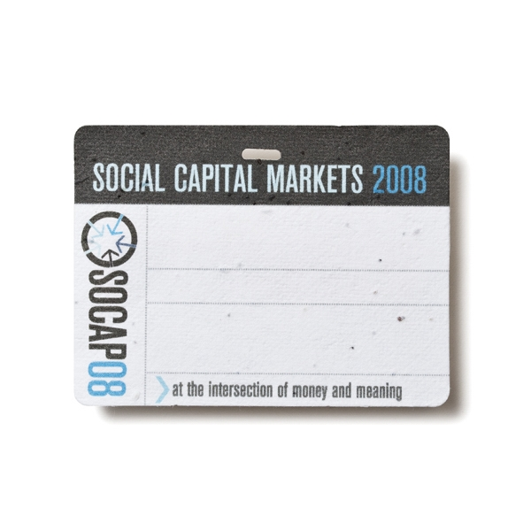Seed Paper Name Badge