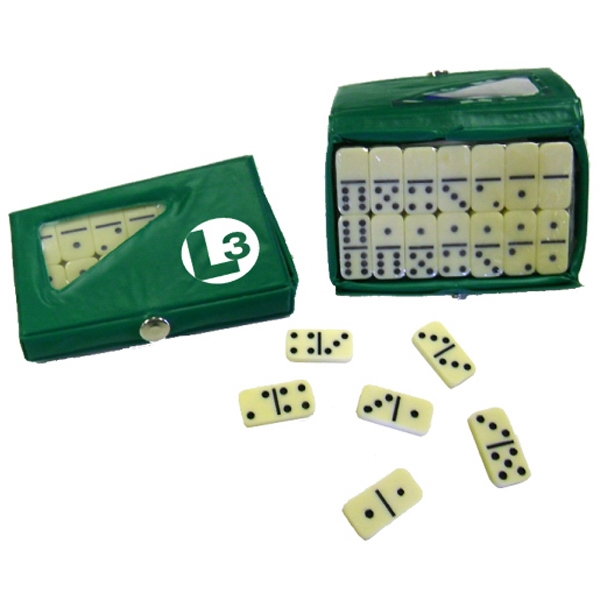 Item #Domino 657 GRE Compact 28 Piece Double Six Domino Game Set - E657