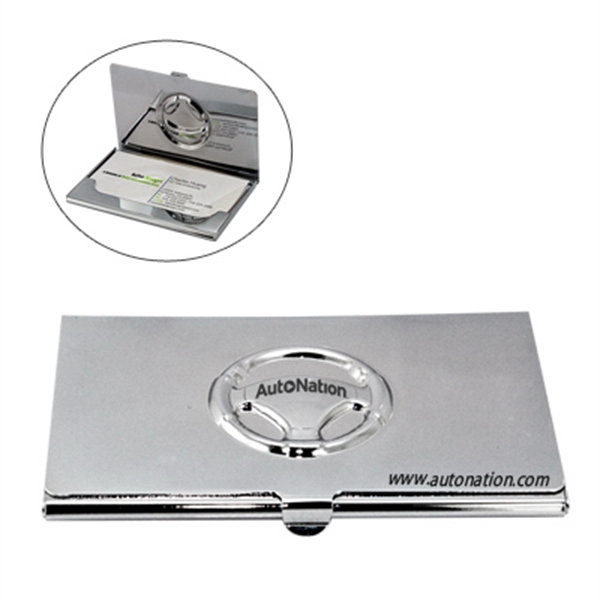 Item #HY-6017 Steering Wheel Metal Business Card Case