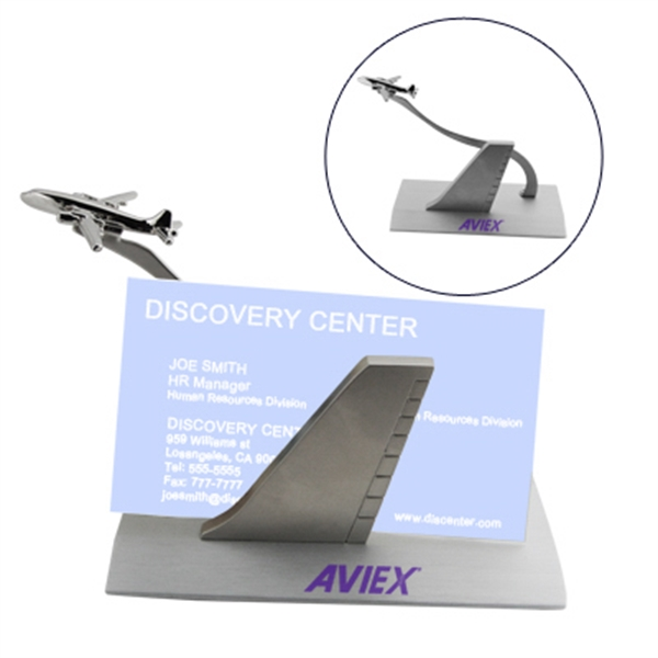Item #HY-6018 Airplane Business Card Holder