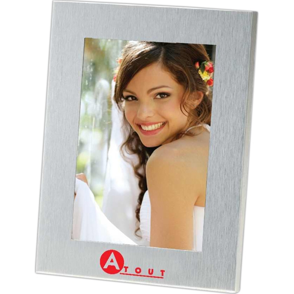 Item #SS4X6 Lecce - Brushed Metal Photo Frame