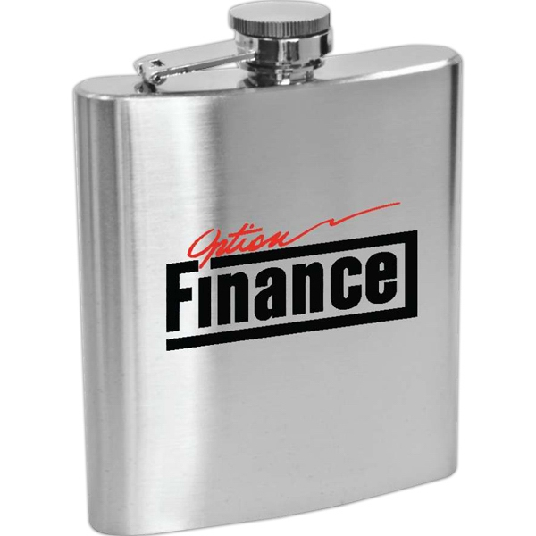 Item #SM915 Lincoln - 6 oz Stainless Steel Hip Flask