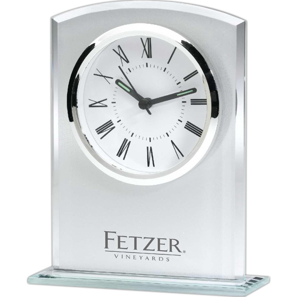 Item #CK310 Column Glass Clock