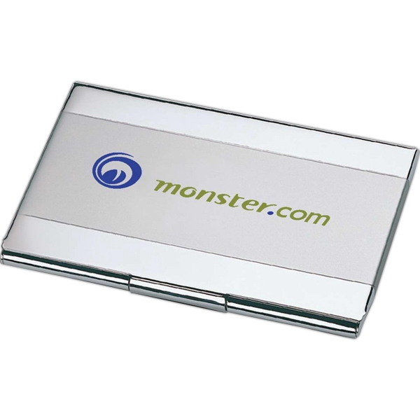 Item #TL160 Dual Tone Business Card Holder