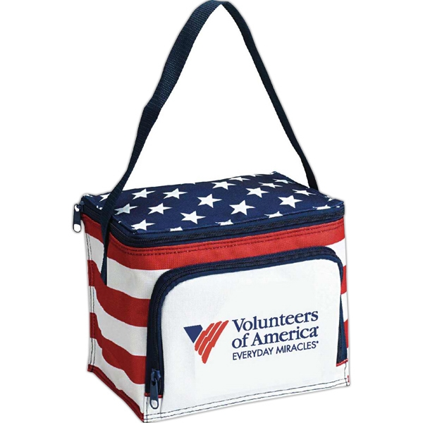Item #CL104 Americana Stars N Stripes 6 Pack Cooler