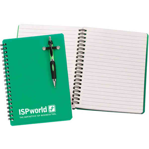 Item #OFG1120-E Powell - 5-15 Working days, standard - Translucent color notebook with pen included.