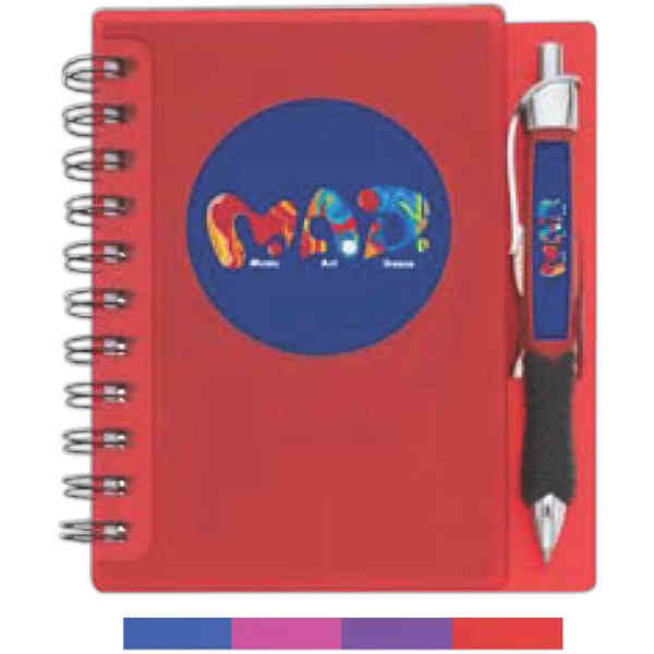 Item #2651 Messenger - Notebook with ballpoint pen, double wire-bound, 50-sheets of unlined paper. Closeout