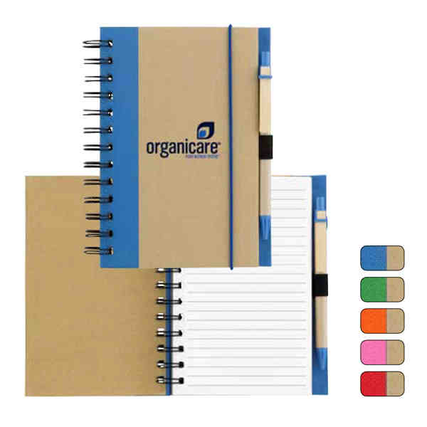 Item #6990 Natura - Pen and spiral bound notebook made of recycled materials. Closeout
