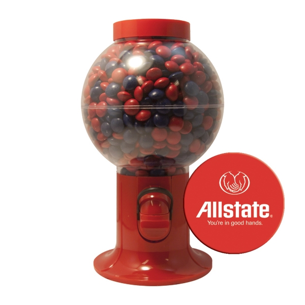 Item #GM06-CHOCOLATE Gumball Machine Dispenser with Corporate Color Chocolates