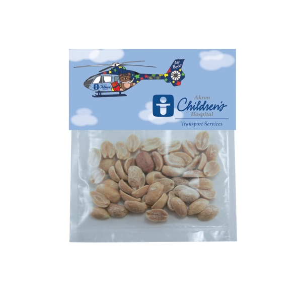Item #HB19-PEANUTS Candy Bag (with Header Card) with Peanuts