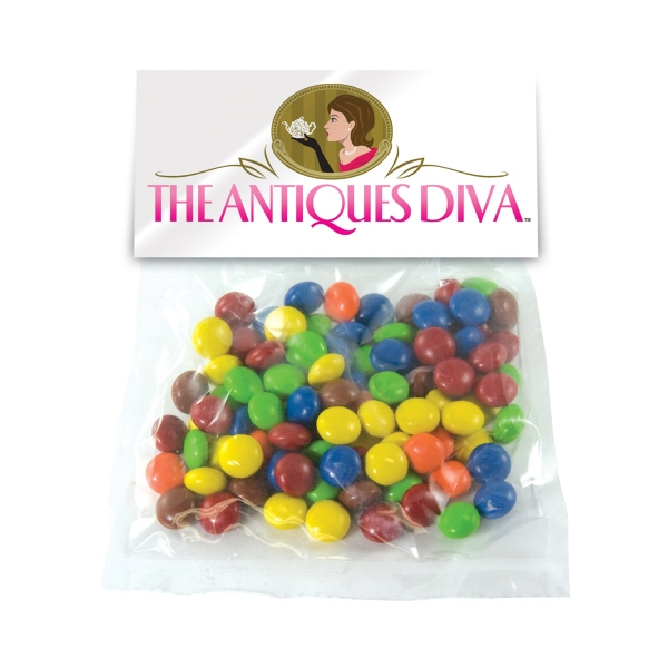 Item #HB30-CHOCOLATE Large Candy Bag (with Header Card) with Chocolate Littles