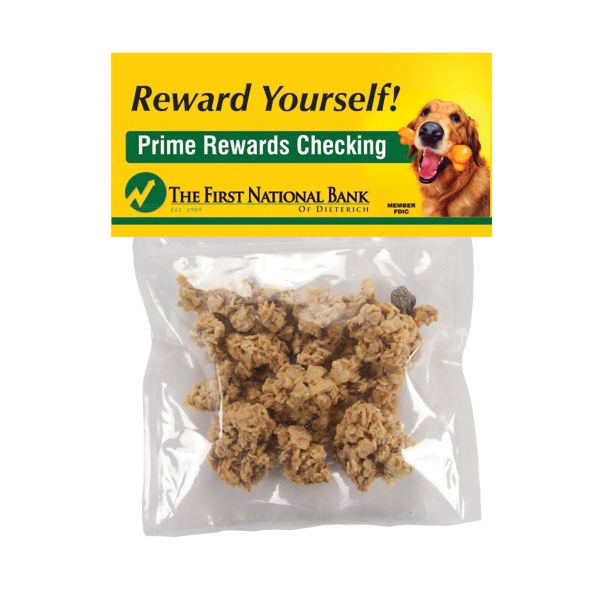 Item #HB30-GRANOLA Large Candy Bag (with Header Card) with Granola