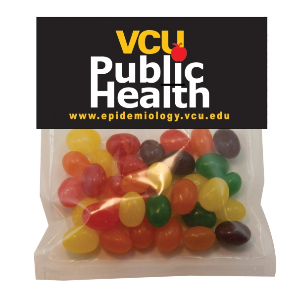 Item #HB30-JELLY Large Candy Bag (with Header Card) with Jelly Beans