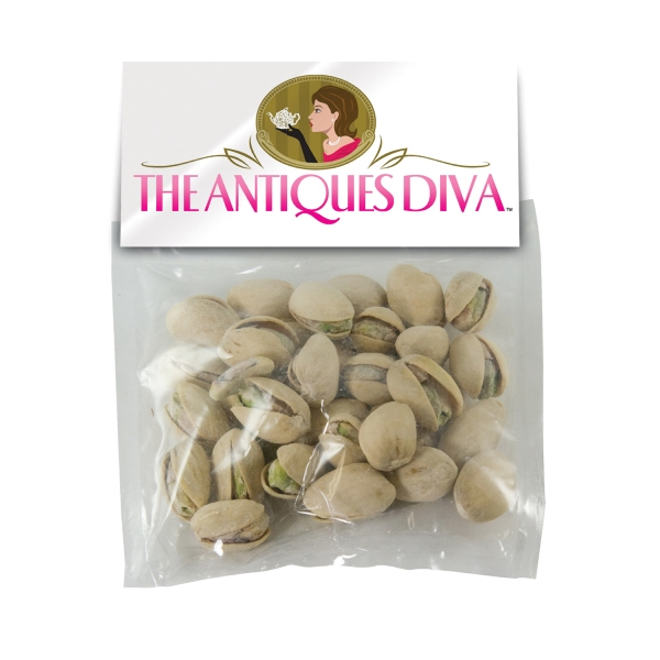 Item #HB30-PISTACHIO Large Candy Bag (with Header Card) with Pistachios