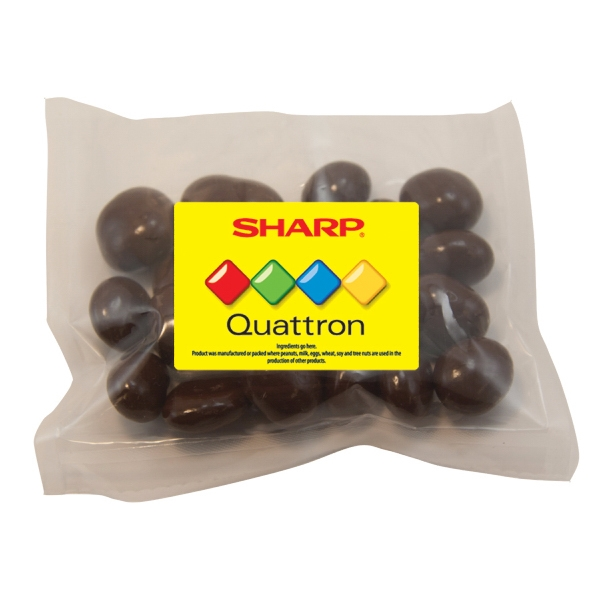 Item #LPP21-RAISINS Large Promo Candy Pack with Chocolate Covered Raisins