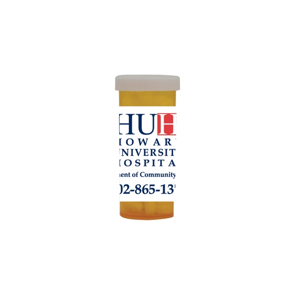 Item #MPB10-SUGAR Mini Pill Bottle with Sugar Free Mints
